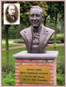 monument - borstbeeld van Gaston Ooms op marktplein