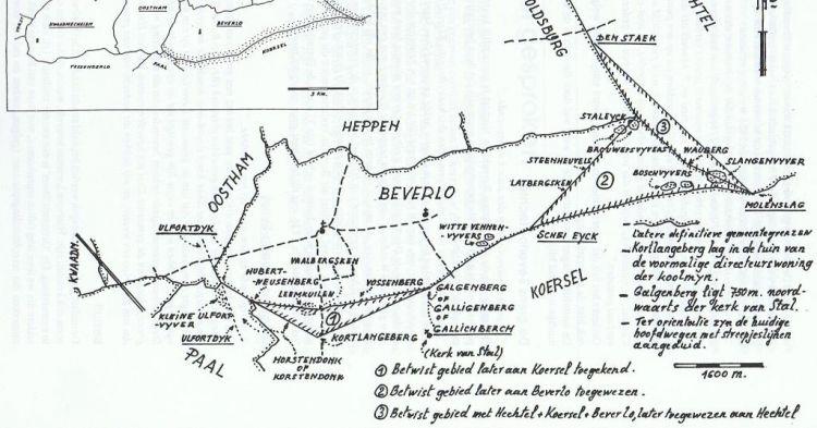 oude kaart van Beverlo