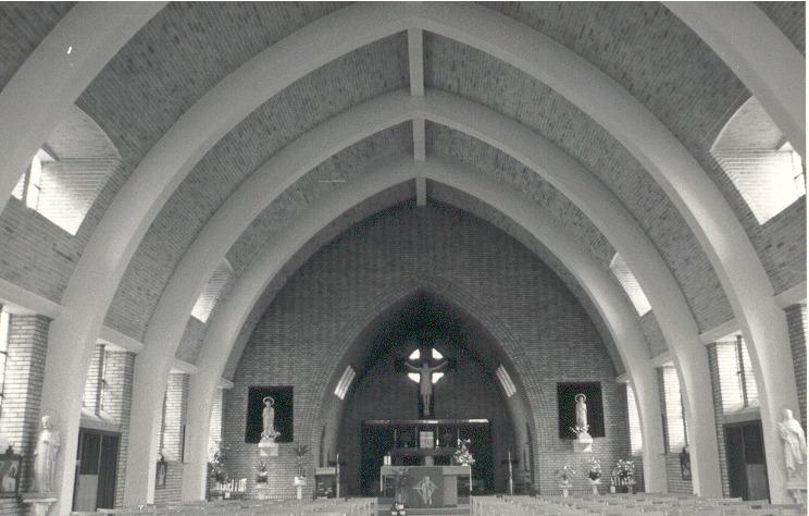binnenzicht kerk korspel